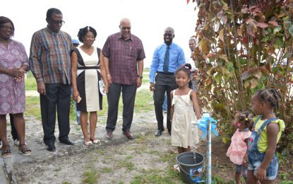 Timehri North and Hauraruni residents benefitting from improved water access