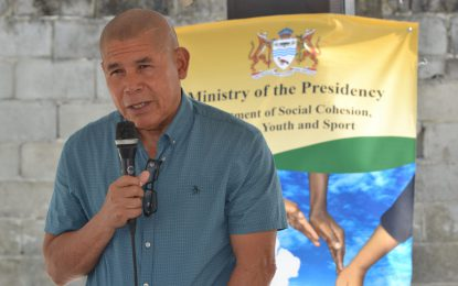 Sporting facilities to be upgraded in Agricola – Min. Norton