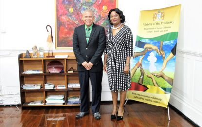 Min. Norton receives courtesy call from High Commission of Botswana
