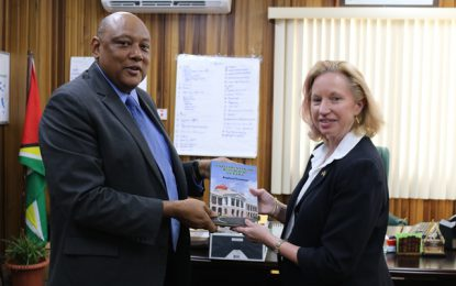 Minister of Natural Resources meets new U.S. Ambassador to the Co- operative Republic of Guyana