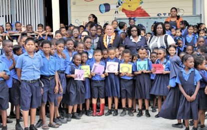 Minister Norton conducts site visit at Craig Primary School Ground