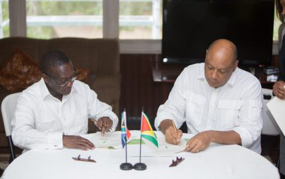 Guyana and South Africa sign Declaration of Intent