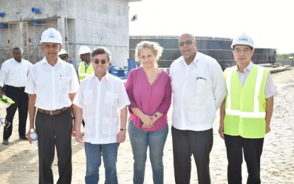 GWI, Consultants brief IDB President on progress of Diamond Water Treatment Plant