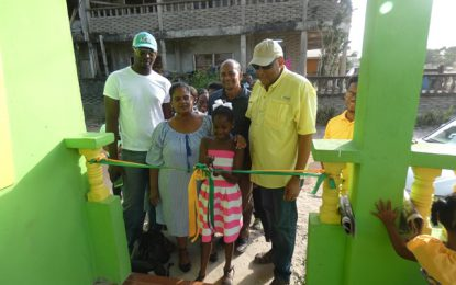 Linden family presented with new home