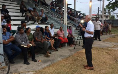 """We saved 10,000 jobs"" – Min. Bulkan tells Crabwood Creek residents"