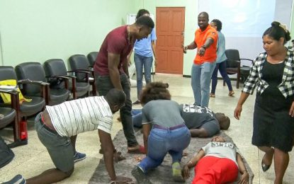 Volunteer Emergency Response Team equipped with first aid skills