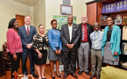Minister Harmon receives courtesy call from PAHO/WHO reps