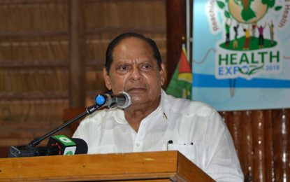 Nation's health always govt's priority – PM Nagamootoo