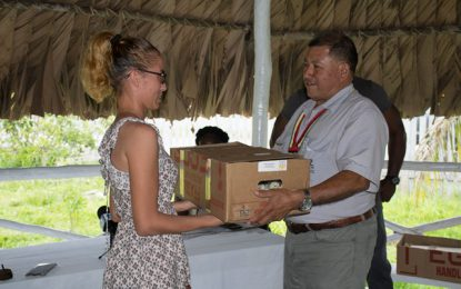 300 chickens distributed to Speightland residents in support of their business
