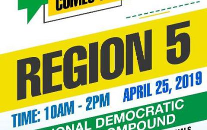 Region 5 it's your turn – as Govt outreach comes to you