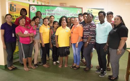 25 Rupununi small-scale agro-processors benefit from marketing materials