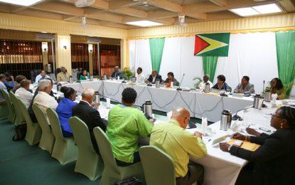 Pres. Granger chairs Cabinet meeting in Watooka, Linden
