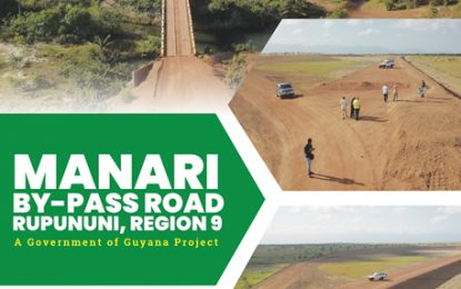 Manari Bypass Road to officially open April 6th