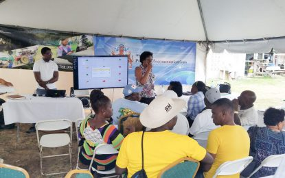 Public Telecommunications Ministry introduces 'Farmer's App' at Reg. 6 outreach