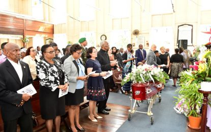 President Granger, First Lady bid farewell to Magda Pollard