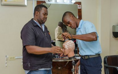 Barber training for persons with disabilities