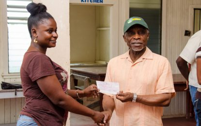 Berbice youths cash in on million dollar cash grant
