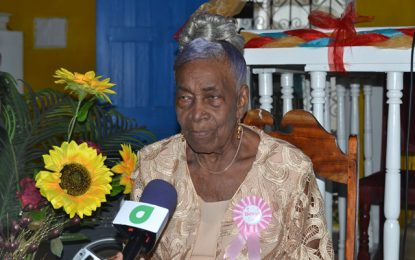 Rev. Desiree Pancarte turns 100