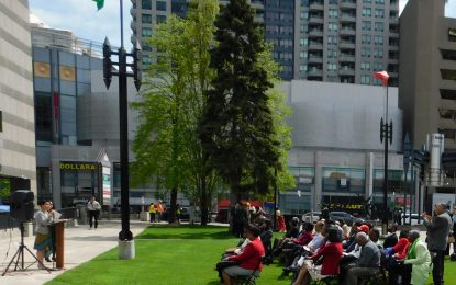 Guyanese turn out in numbers for 53rd Independence Anniversary Flag Raising ceremony in Toronto