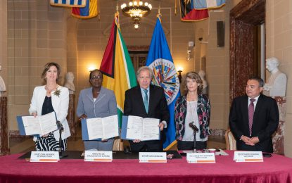 Guyana leads the way in signing a Digital Learning Platform Agreement with the Organization of American States and ProFuturo Foundation