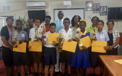 Graham's Hall Primary's Dave Chowtie wins Math Quiz Competition