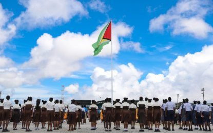 Nation's Youths take the lead at 53rd Independence Flag Raising