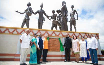 """This monument site is a shrine to Indian Immigration"" – Pres. Granger"