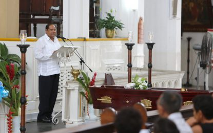 Former MP Michael Anthony Abraham A.A laid to rest