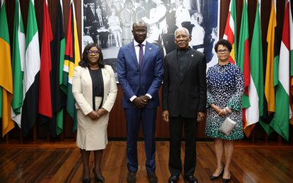 New Suriname Ambassador to Guyana accredited
