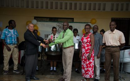 Tutorial High encouraged to revive music school with steel pans donated