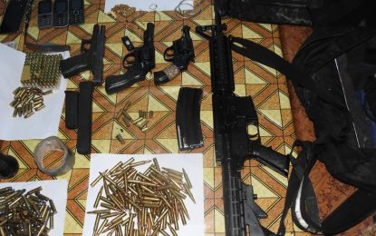 Rifle among loot recovered by police