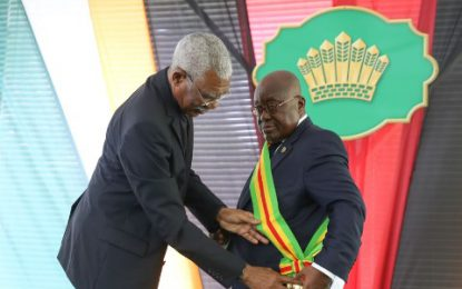 Ghanaian President conferred with highest National Award
