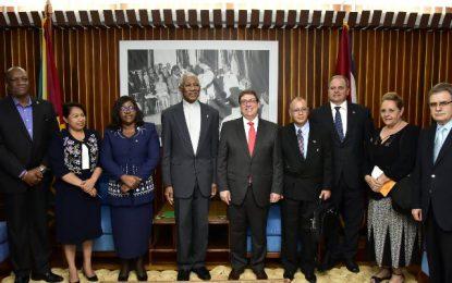 President Granger meets Cuban Foreign Minister