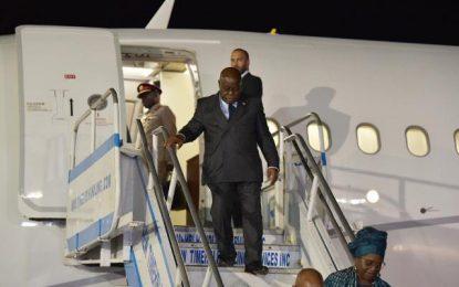 President Nana Akufo-Addo arrives on local soil