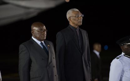 Ghanaian leader commends President Granger for 'strong leadership'