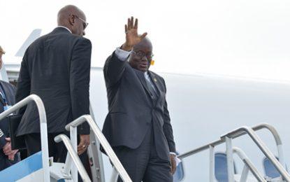 Ghana President bids farewell to Guyana