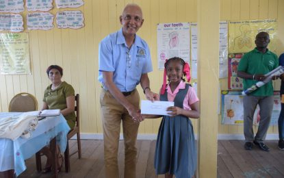 Min. Bulkan rewards 9-year-old Bartician