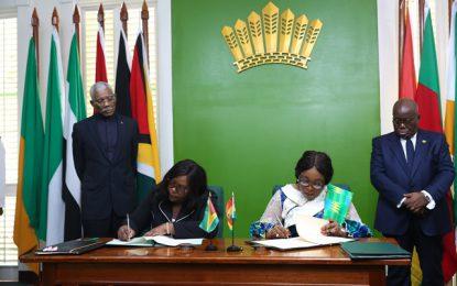 Guyana and Ghana cement friendship