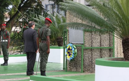 Cuban Foreign Minister pays respect to Guyana's independence