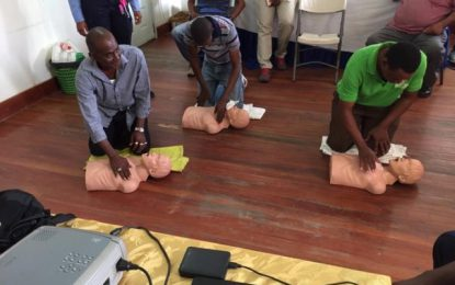 8 Berbice ambulance drivers trained as First Responders