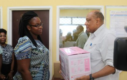 Wisburg Secondary School gets lights and sewing machine – Min. Trotman delivers