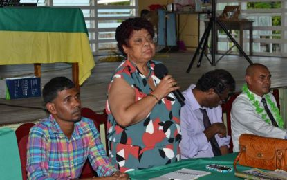 """Forget race politics, support development"" – Min. Ally tells Enmore residents"
