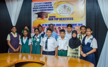 Reg. 4 NGSA top students honoured