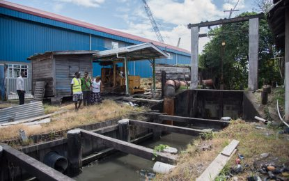 Sussex Street pump provides relief to Albouystown