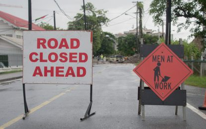 Traffic advisory in Kingston area: traffic diverted to facilitate rerouting of sewage pipes