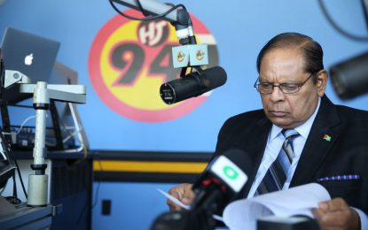 Coalition Govt is legitimate, operating on 'a different footing' – PM Nagamootoo