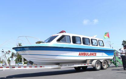 New water ambulance for Kwakwani