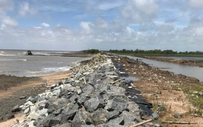 Govt working to rectify Mahaicony sea defence breach