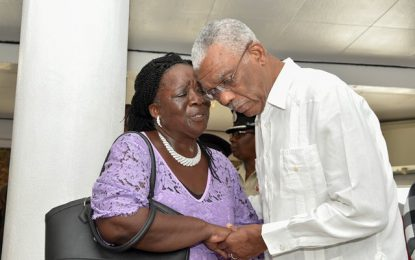 President Granger attends viewing of late Presidential Guard