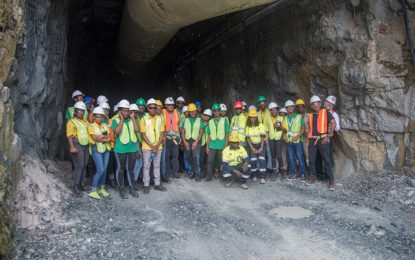 Young apprentices visit Aurora Gold Mines